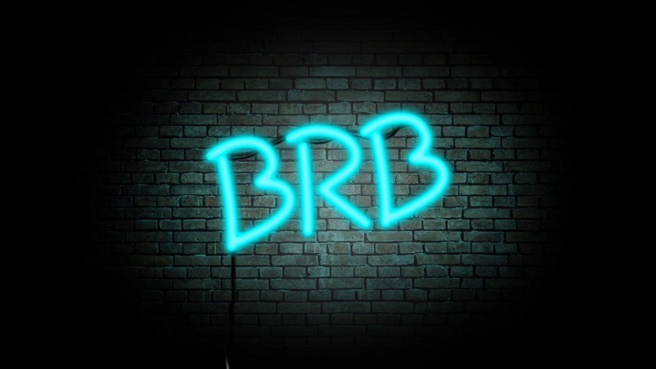animated brb screen youtube