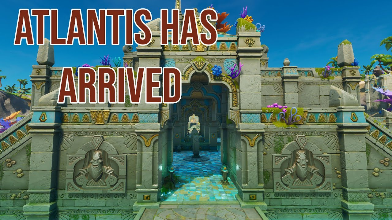 Fortnite S Underwater Atlantis City Is Finally Revealed And It S Called Coral Castle Gamesradar