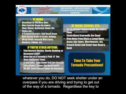 2013 Pacific Northwest Severe Weather Awareness Week - Tornadoes