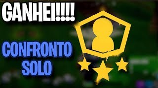 GANHEI O SPRAY DO CONFRONTO SOLO - Fortnite Battle Royale