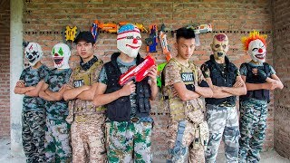 MASK Nerf War : Two Police Mask Nerf Guns Special Mission Fight Dangerous Criminals 2