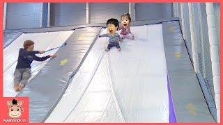초대형 미끄럼틀 대형 풍선 놀이공원 꾸러기 유니 미니 재밌게 놀았어요 ♡ 키즈카페 놀이동산 놀이공원 이천 플레이즈 공놀이 공놀이게임 | 말이야와아이들 MariAndKids