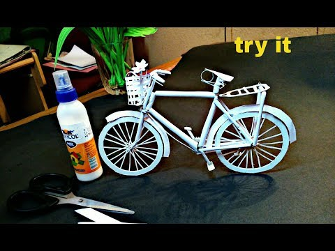 How To Make A paper cycle - DIY Simple Paper Craft