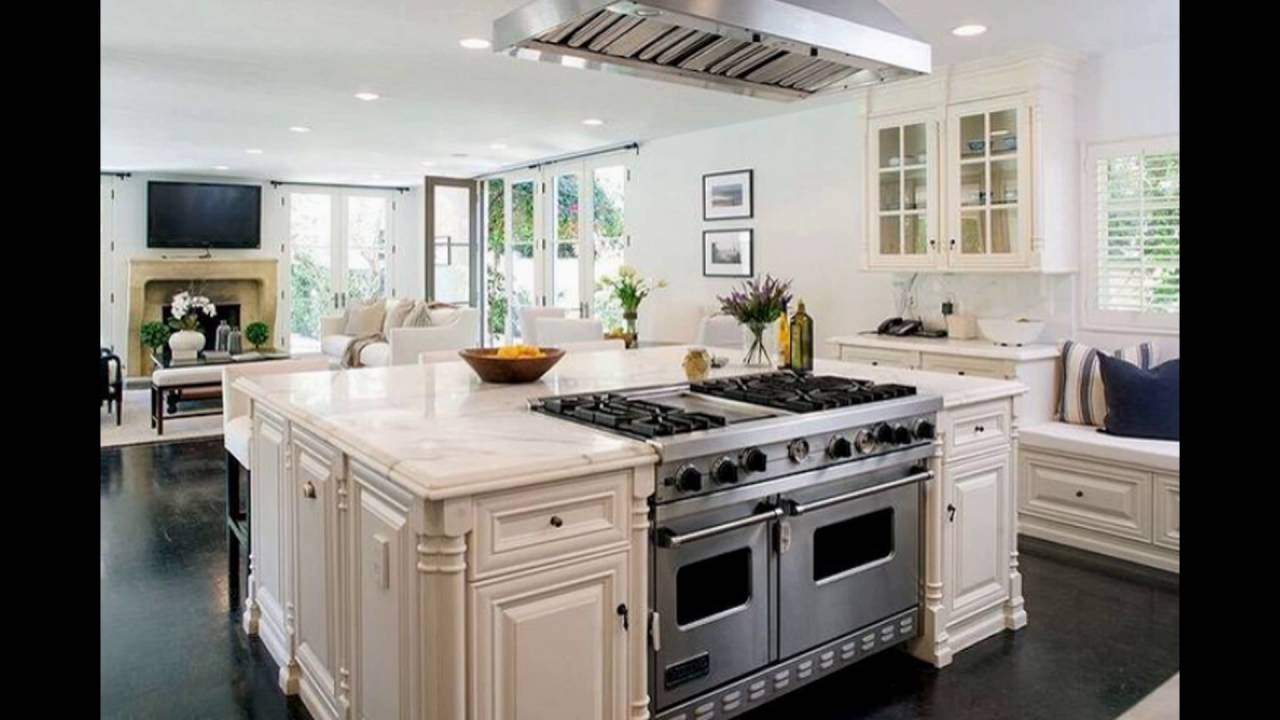 Kitchen island vent hood youtube for Vent hoods for kitchens