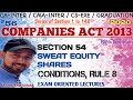 "56 | SECTION 54, ""ISSUE OF SWEAT EQUITY SHARES"" 