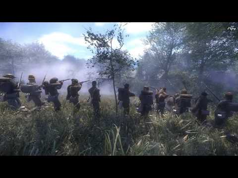War of Rights - Confederate States - Skirmish - 30 vs 30 - Commanding a Confederate Battle Line
