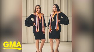 Twins sisters become valedictorian and salutatorian