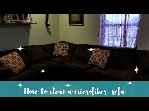 How to clean a microfiber sofa| Bissel Power Force| Dawn soap