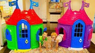 Vania build Playhouses for children | Kids Ice Cream Truck Toys
