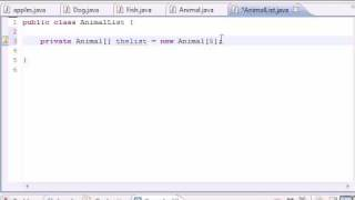 Java Programming Tutorial - 60 - Array Holding Many Objects