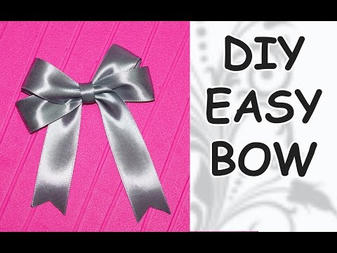 DIY easy / DIY cfrafts / DIY Ribbon BOW / How to make a bow out of ribbon / DIY beauty and easy