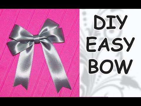DIY easy / DIY cfrafts / DIY Ribbon BOW / How to make a bow out of ribbon / DIY