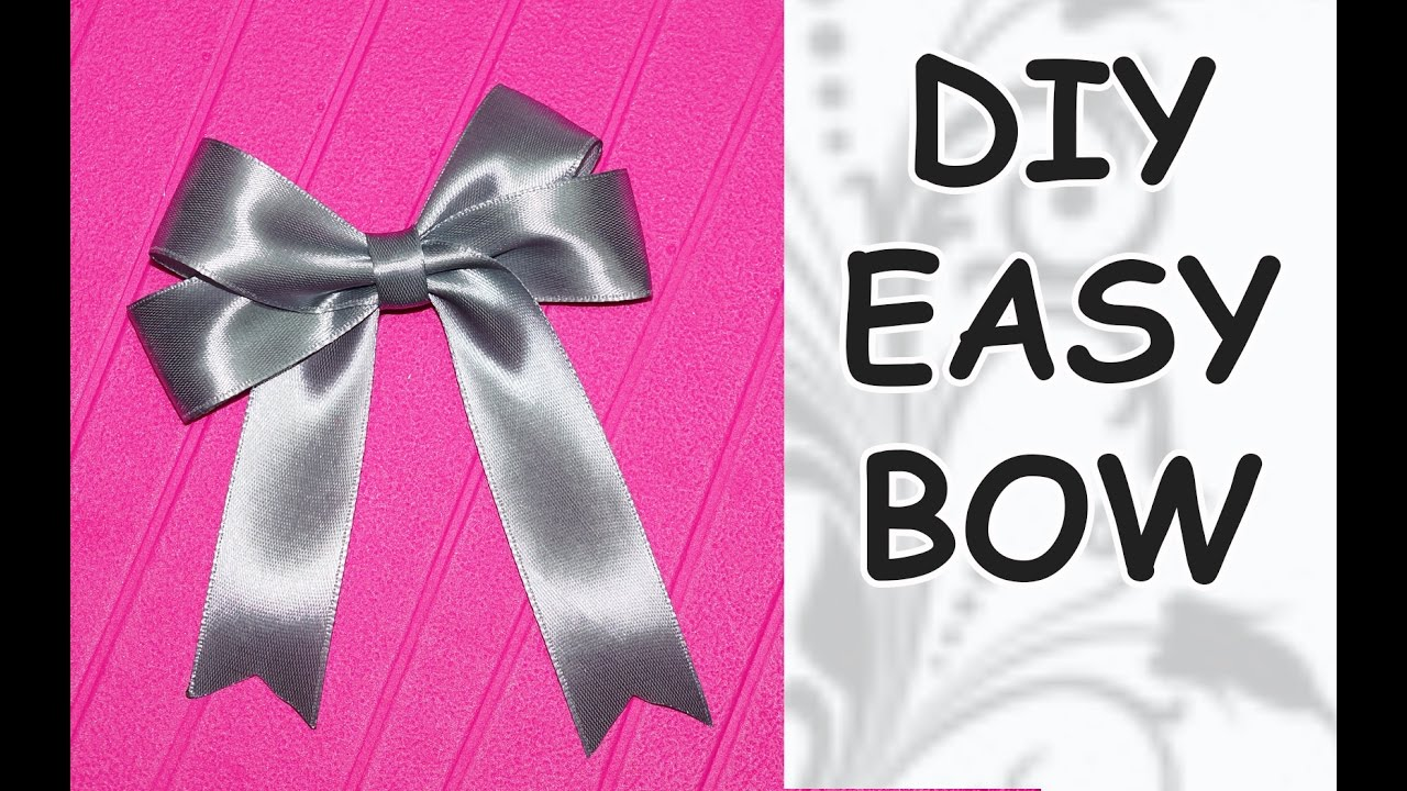 DIY easy / DIY cfrafts / DIY Ribbon BOW / How to make a ...