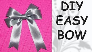 DIY easy / DIY cfrafts / DIY Ribbon BOW / How to make a bow out of ...