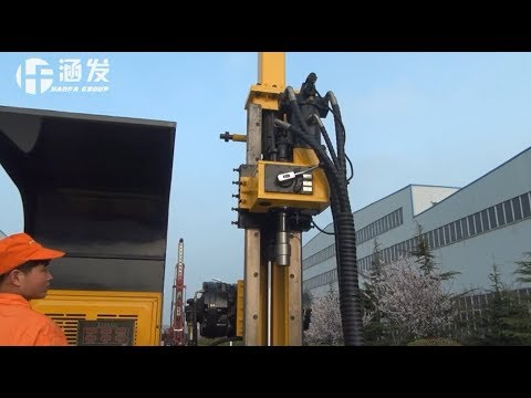 The Operation Demo Of HFDX-2  Hydraulic Core Drilling Rig