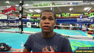 "DEVIN HANEY on TANK DAVIS: ""IT WAS DOGHOUSE SPARRING..FIGHT UNTIL WHOEVER QUITS"""