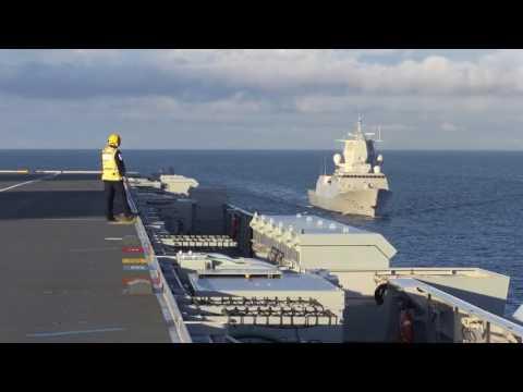 Carrier Queen Elizabeth, Saxon Warrior 2017 task group