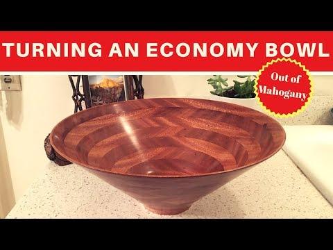 Woodturning an Economy Bowl From Mahogany