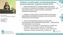 Kohti yhteistä sisäisen turvallisuuden strategiaa, Kansliapäällikkö Päivi Nerg, sisäministeriö