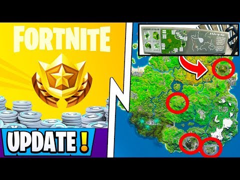 *NEW* Fortnite Update! | *Four* Season 2 Locations, Battle Pass + 1200 Vbucks Announcment!