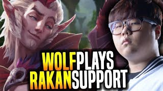 Wolf is a Monster with Rakan ft Xayah! - SKT T1 Wolf SoloQ Playing Rakan Support! | SKT T1 Replays