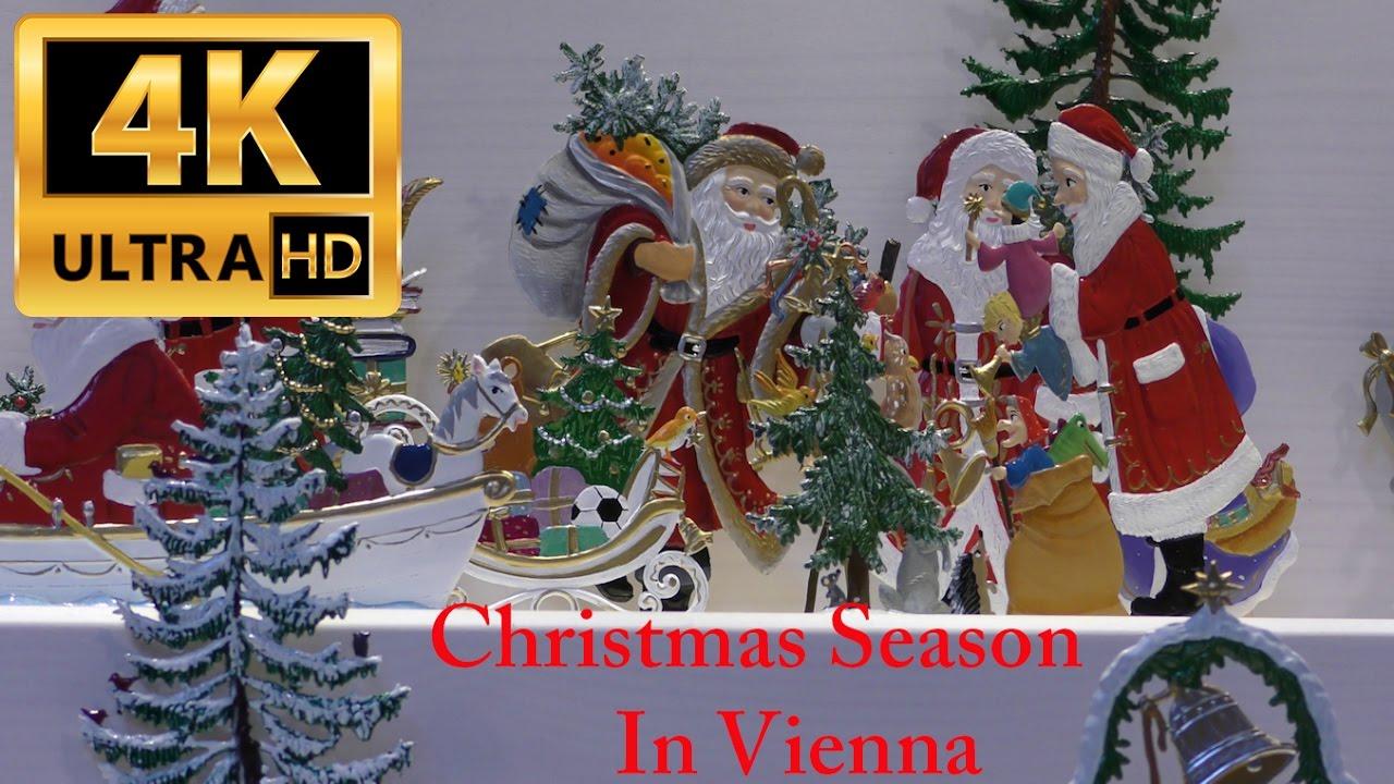 Frohe Weihnachten Mazedonisch.The Christmas Season In Vienna Peace Merry Christmas 4k