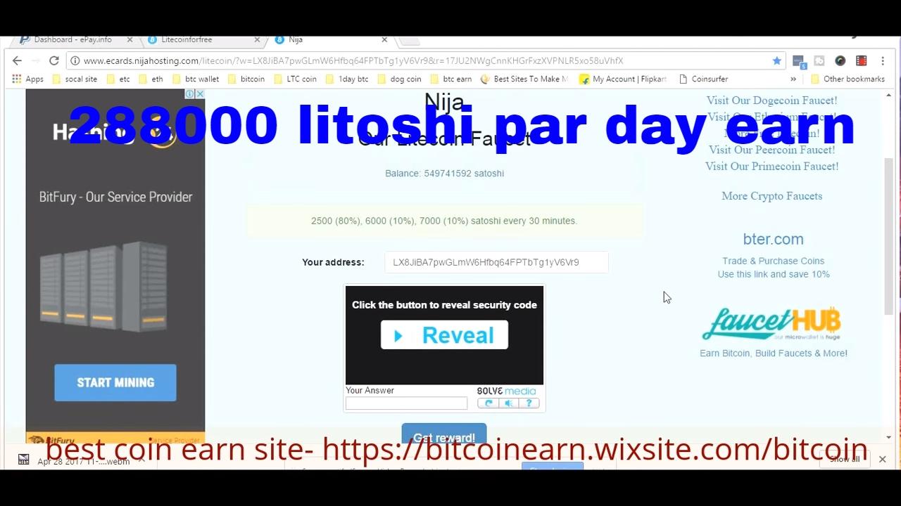 Litecoin Faucet No Minimum Payout Create Bitcoin Wallet Service