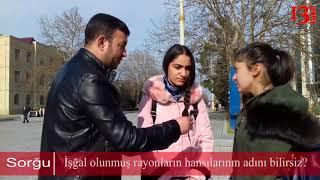 """""""Bakı,Naxçıvan və Yevlax işğal olunub""""-İşğal olunmuş rayonlarımız hansılardır?-Yevlaxda Sorğu"""