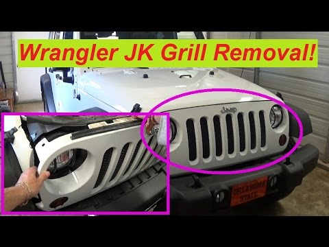 Jeep Wrangler Jk Front Grill Removal And Replacement