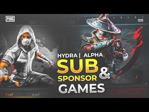 🔴PUBG MOBILE LIVE : AAJ HAI AAPKA DIN - SUBSCRIBE & SPONSOR GAMES! || H¥DRA | Alpha 😎😍