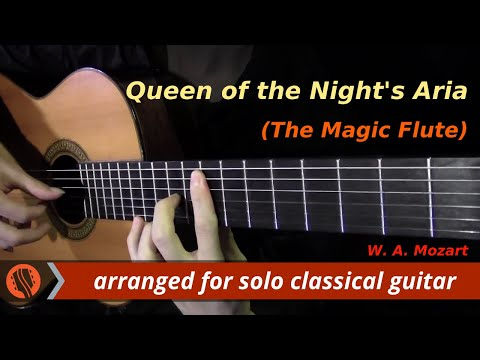 Queen of the Night's Aria from The Magic Flute by W. A. Mozart (classical guitar arrangement)