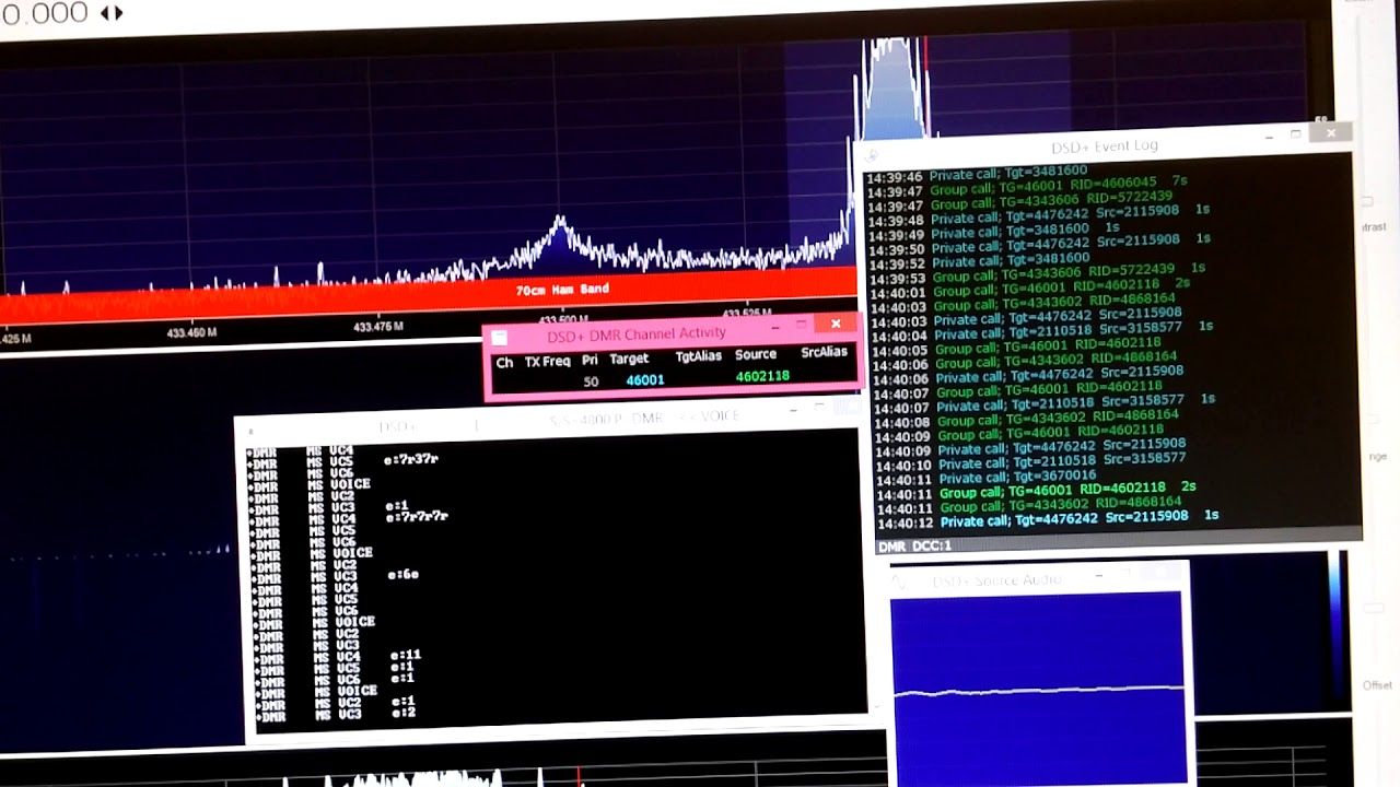 Decode DMR signal (chinese stations) from MMDVM to SDRSharp with DSD+  plugins
