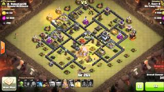 Clash Of CLans Stoned GoHo surgical hogs Max TH9 dragonflower base 4 quakes