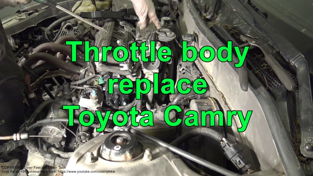 how to replace throttle body toyota camry 2 2 engine 5s fe youtube 2007 toyota camry engine diagram toyota camry throttle body diagram [ 1280 x 720 Pixel ]