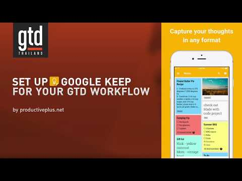 Set up Google Keep for your GTD workflow