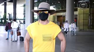 Sahil Salathia & Sonnali Seygall Spotted At Airport