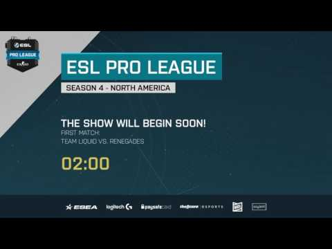LIVE: Team Liquid vs Renegades - ESL Pro League | pro.eslgaming.com/csgo