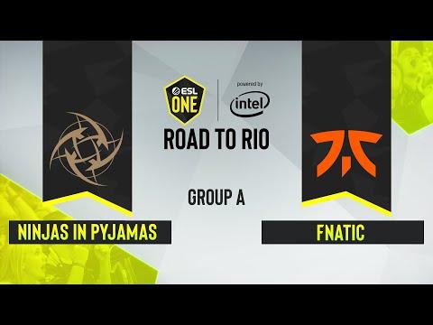 CS:GO - Ninjas In Pyjamas Vs. Fnatic [Mirage] Map 2 - ESL One: Road To Rio - Group A - EU