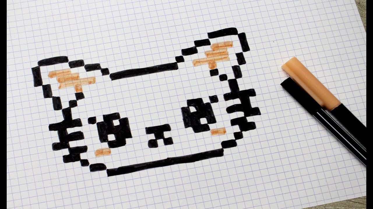Chat En Pixel Art