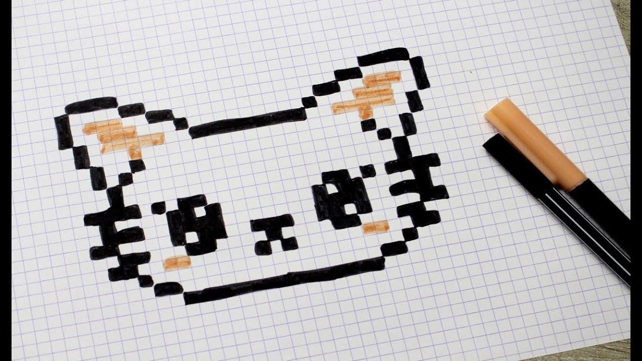 Chat En Pixel Art Youtube