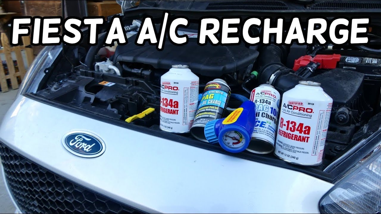 HOW TO RECHARGE AC SYSTEM ON FORD FIESTA MK7 ST A/C