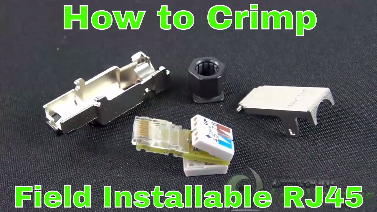 How To Crimp Field Installable Rj45 Industrial Shielded Modular T568a Wiring Color Guide For Ethernet Mod Plug Termination Connectors And Overview