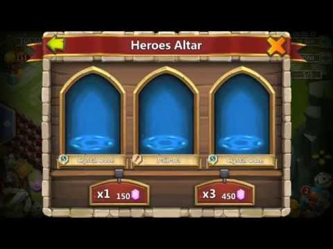 Rolling 50000 GEMS For Heros IN LESS THAN 2 MINUTES INSANE Castle Clash Siren Warlock PD Cupid