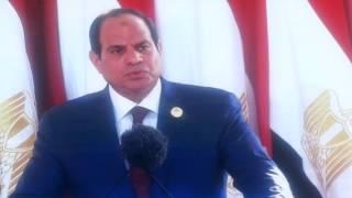 الرئيس السيسي : قناة السويس خطوة من 1000خطوة