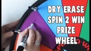Dry Erase Spin 2 Win Prize Wheel
