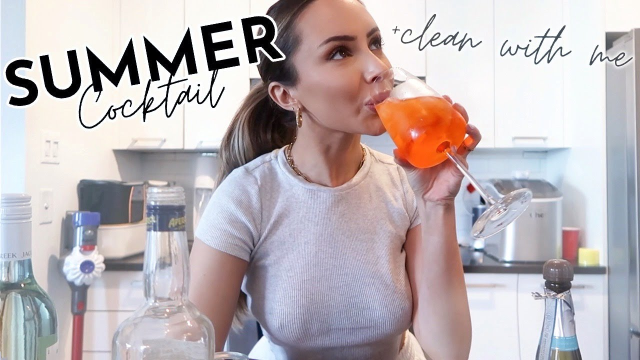 CLEAN WITH ME, ARITZIA HAUL + THE BEST SUMMER COCKTAIL 🍹