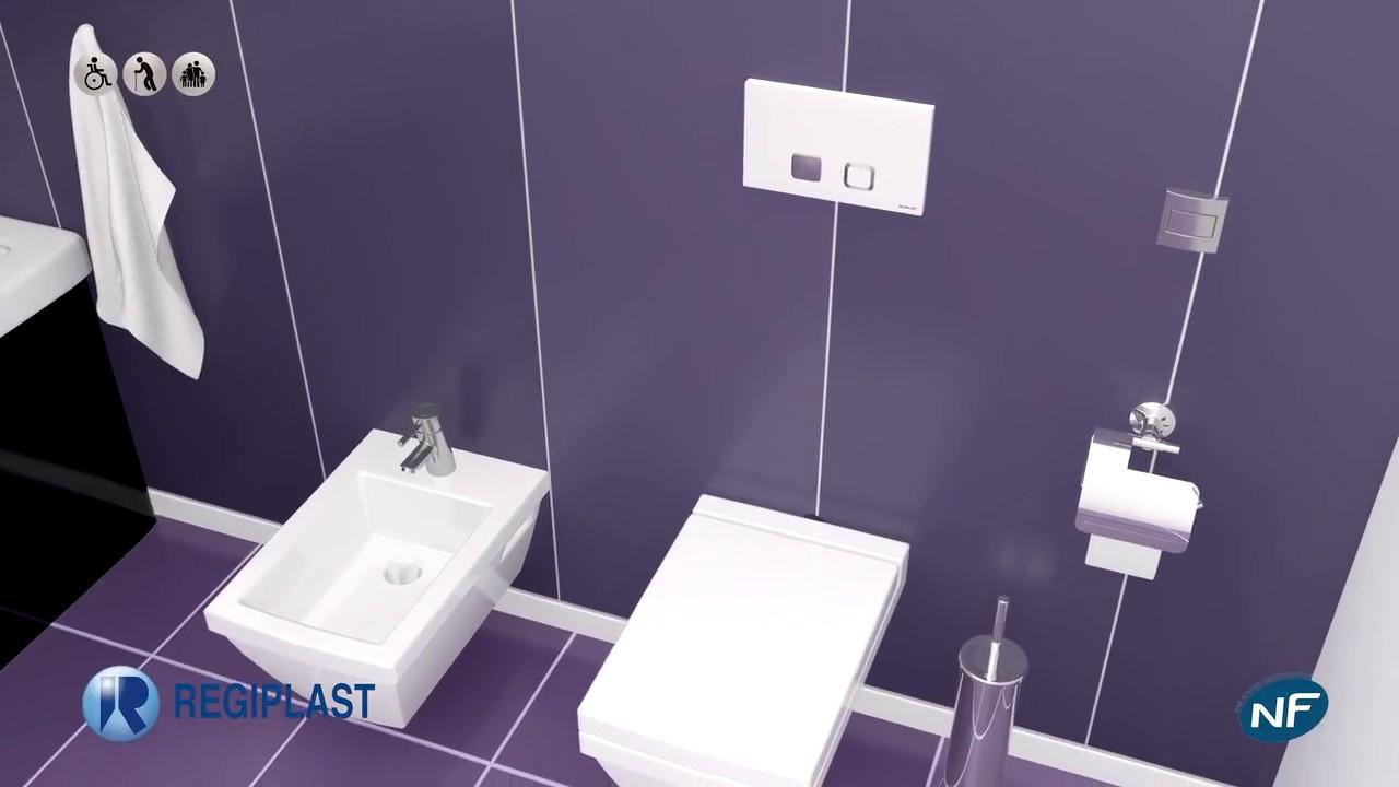 Toilette Gain De Place présentation bati support regiplast evo et cesame