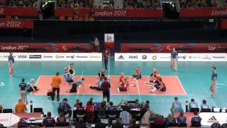 Sitting volleyball (women) - Netherlands v Ukraine - London 2012 Paralympic Games