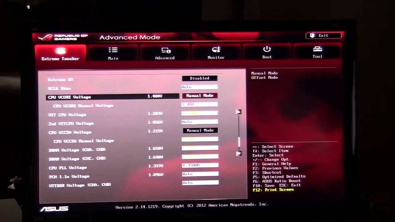 How to get into bios rog