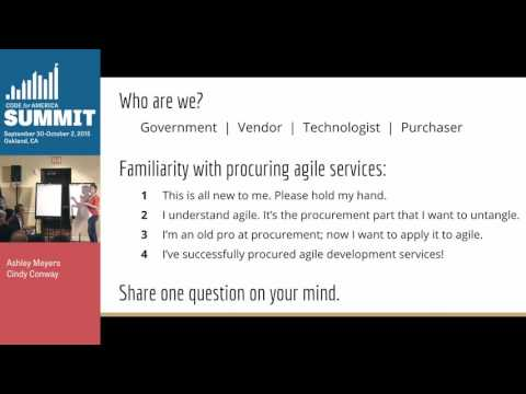 Roundtable Discussion: Making Procurement Work for Agile